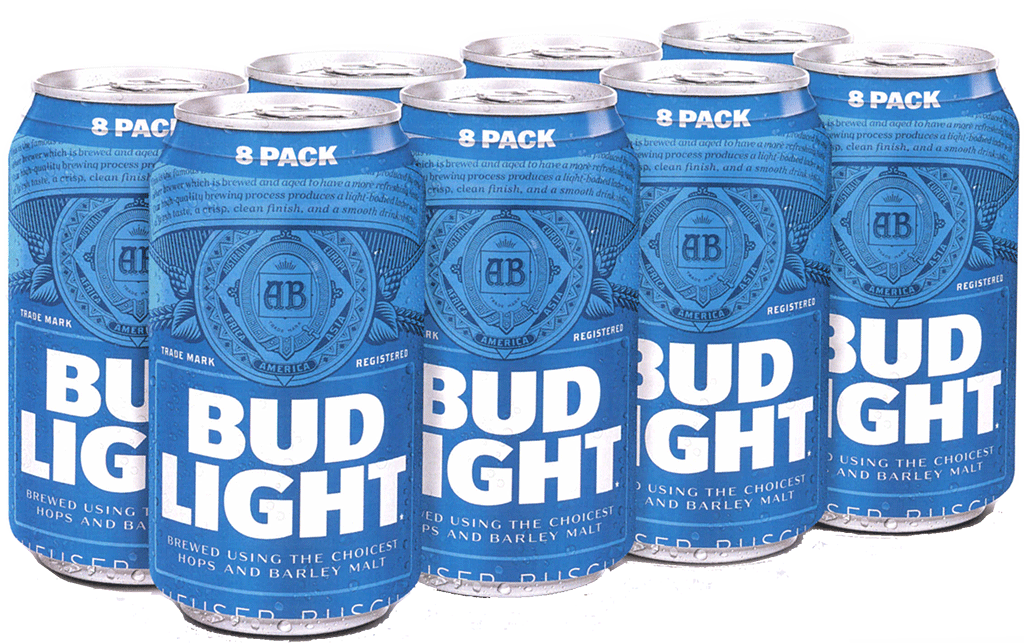 bud light tall boy png