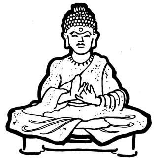 Buddha clipart. Outline drawing at getdrawings