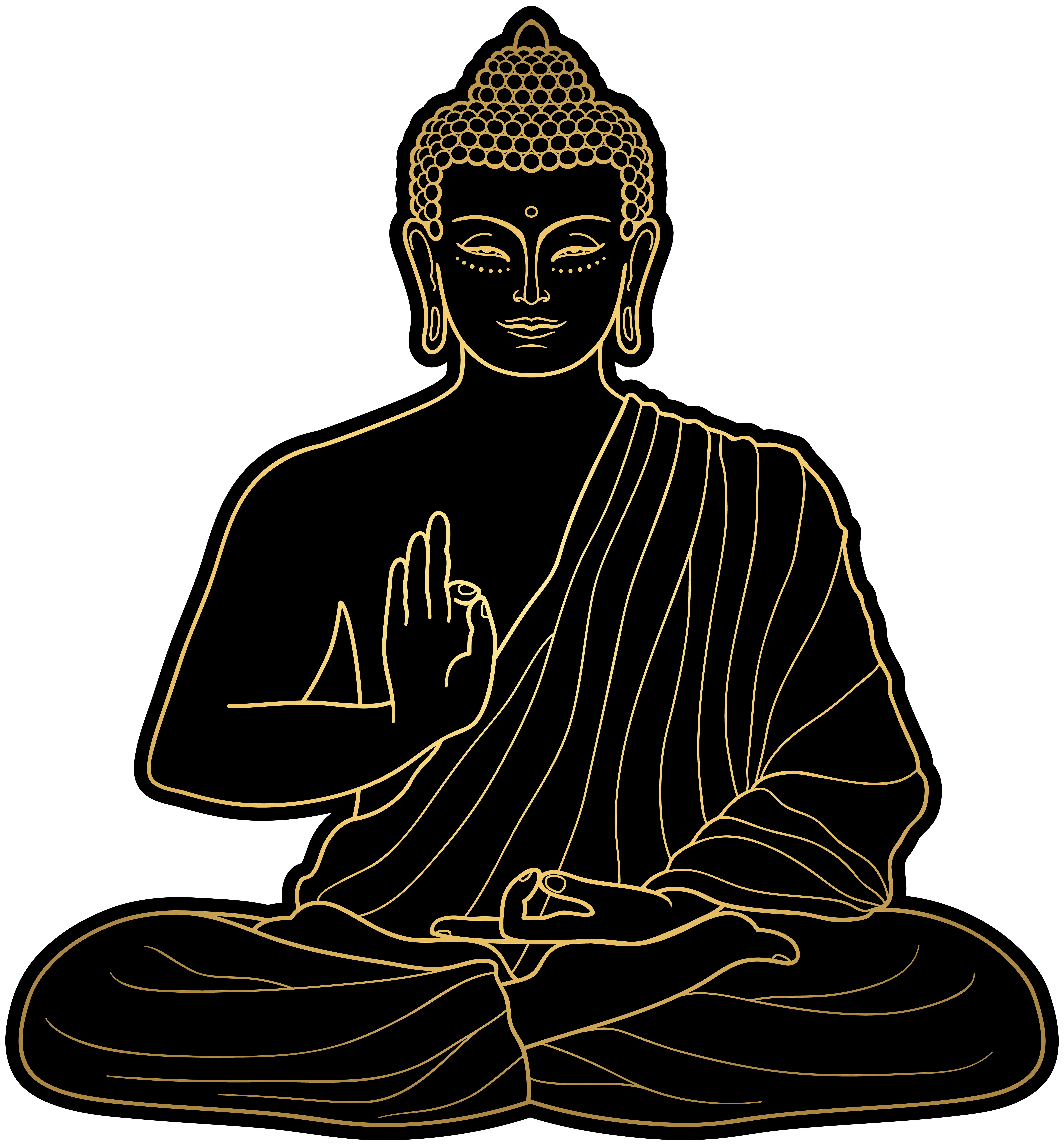 Png clip art best. Buddha clipart picture black and white library