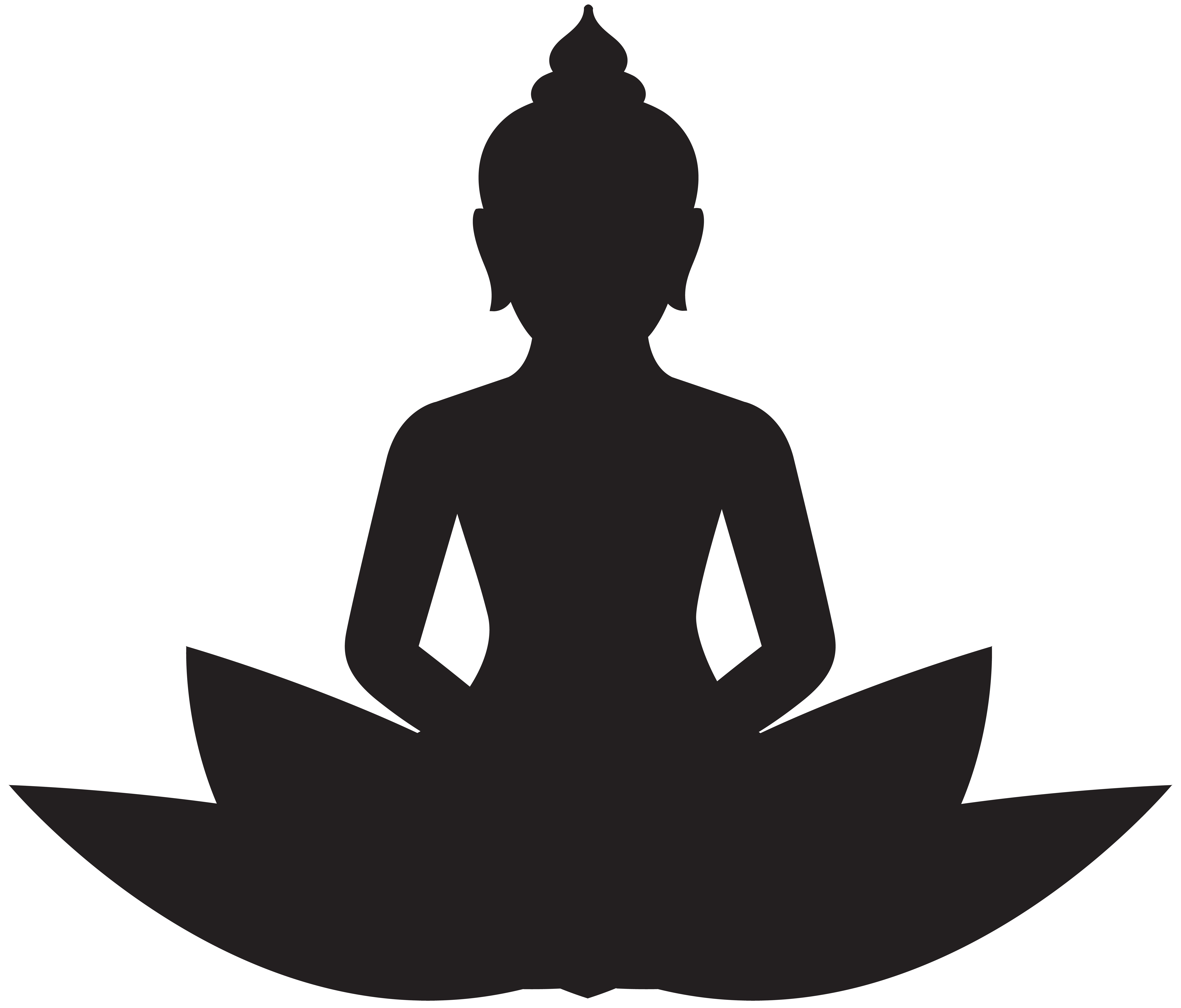 Buddha clipart. Meditating silhouette png clip