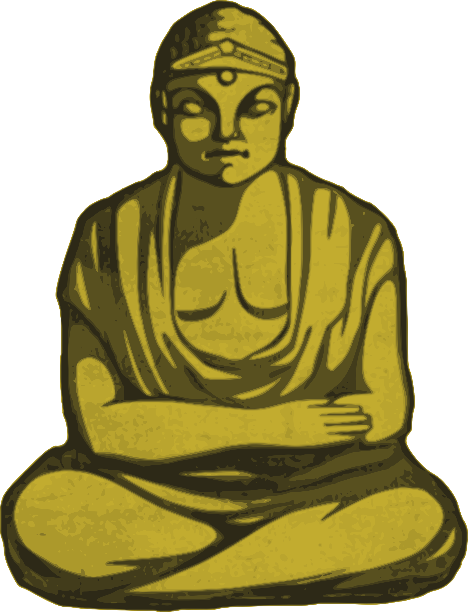 Buddha clipart clear. Golden big image png