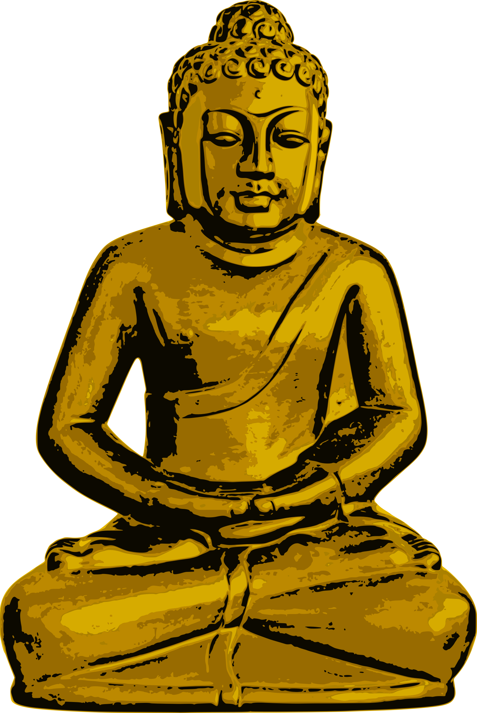 Buddha clipart clear. Golden icons png free