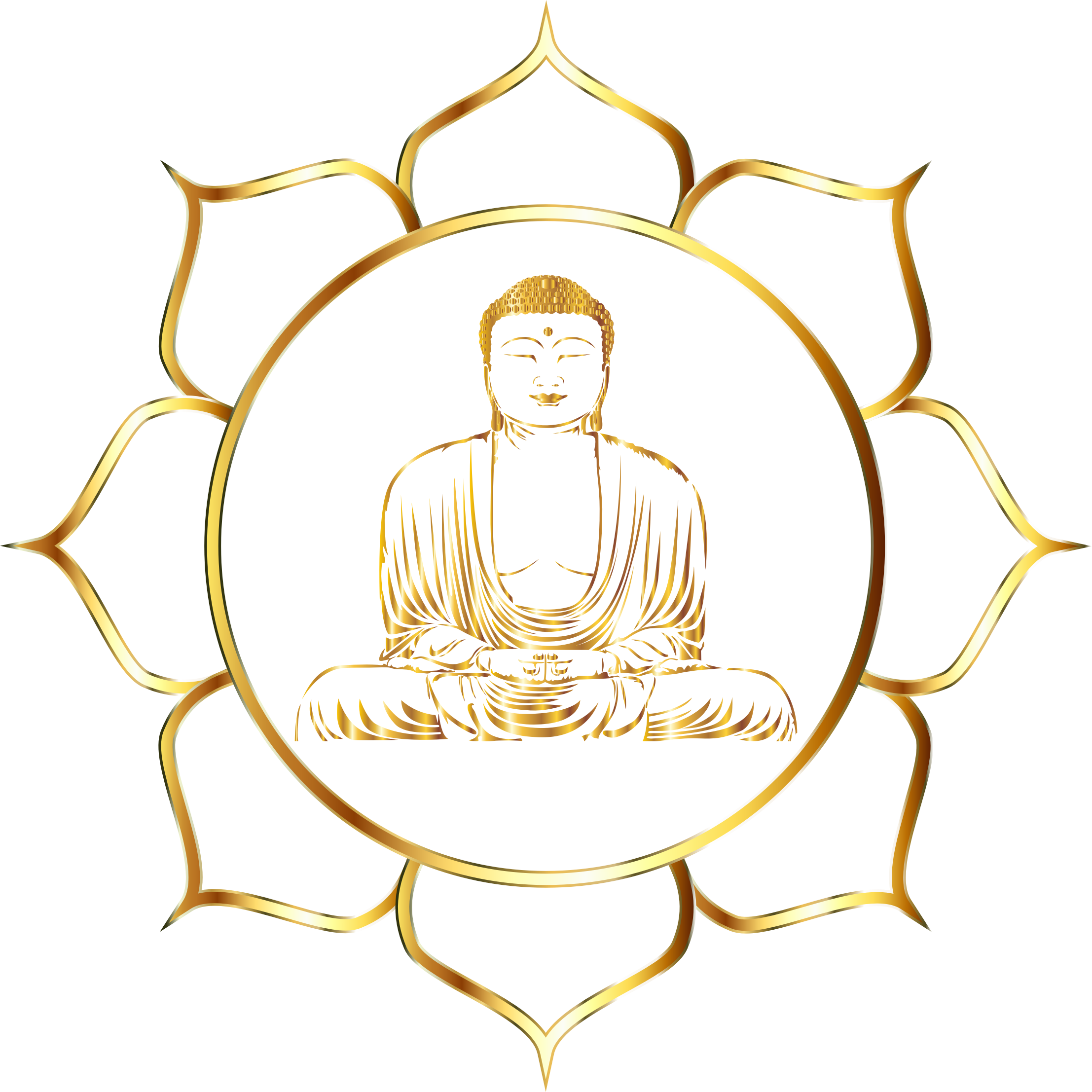 Buddha clipart cute. Background of white against
