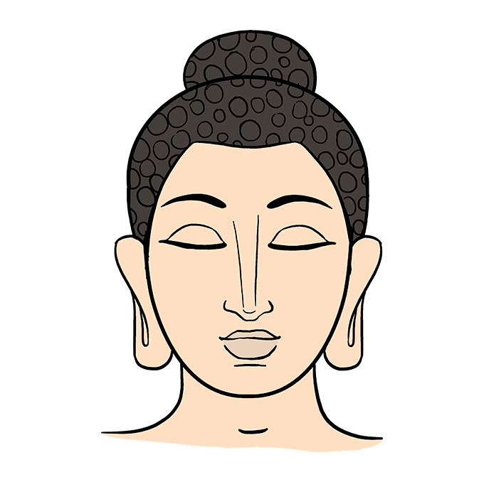 Buddhist drawing art. How to draw buddha