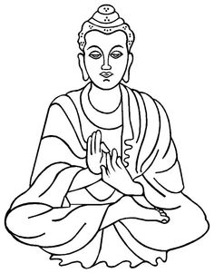 Buddha clipart easy draw. How to step art