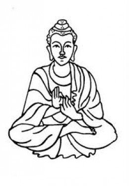 Drawing images at getdrawings. Buddha clipart easy draw picture black and white library
