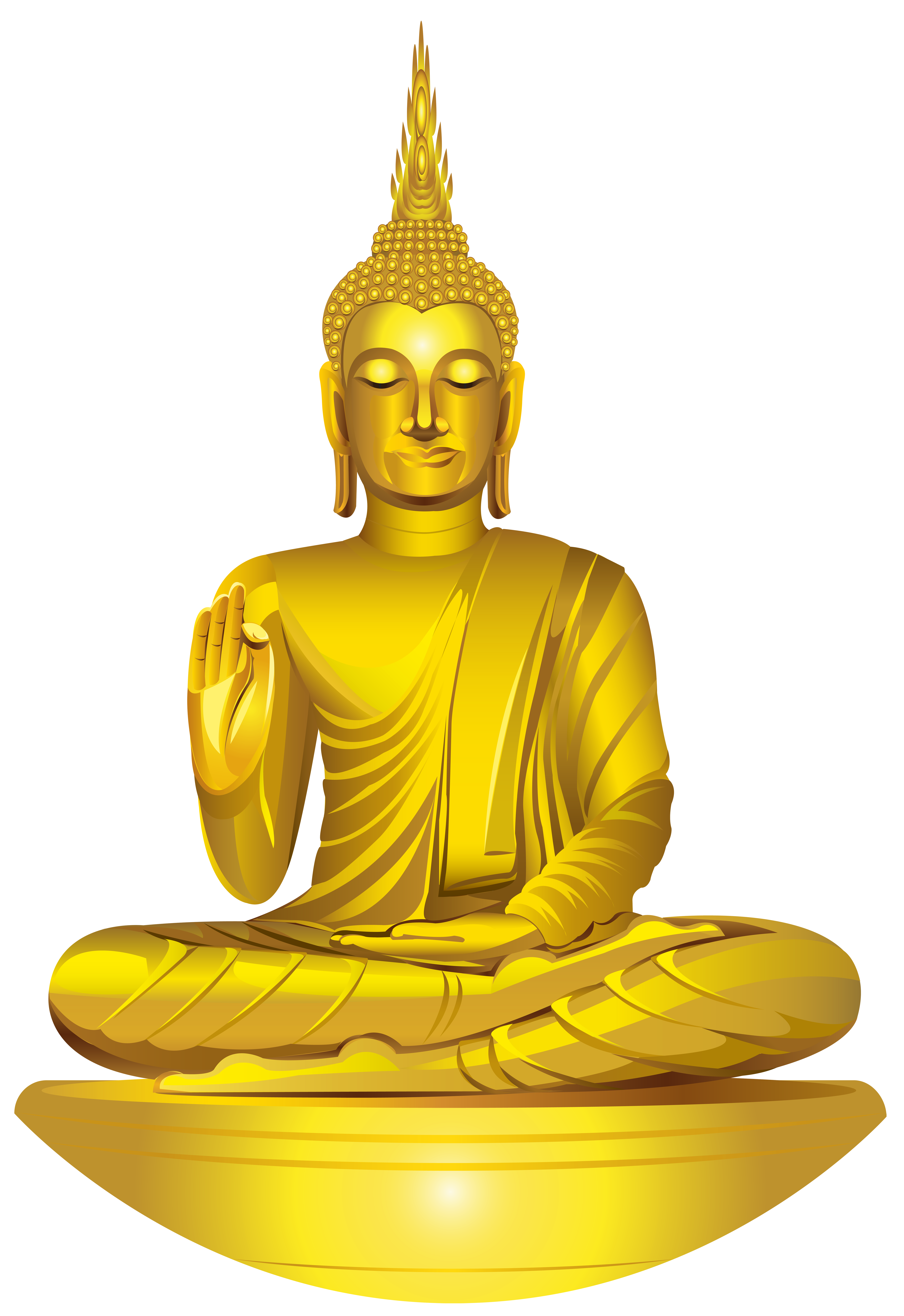 Statue png clip art. Buddha clipart golden buddha black and white download
