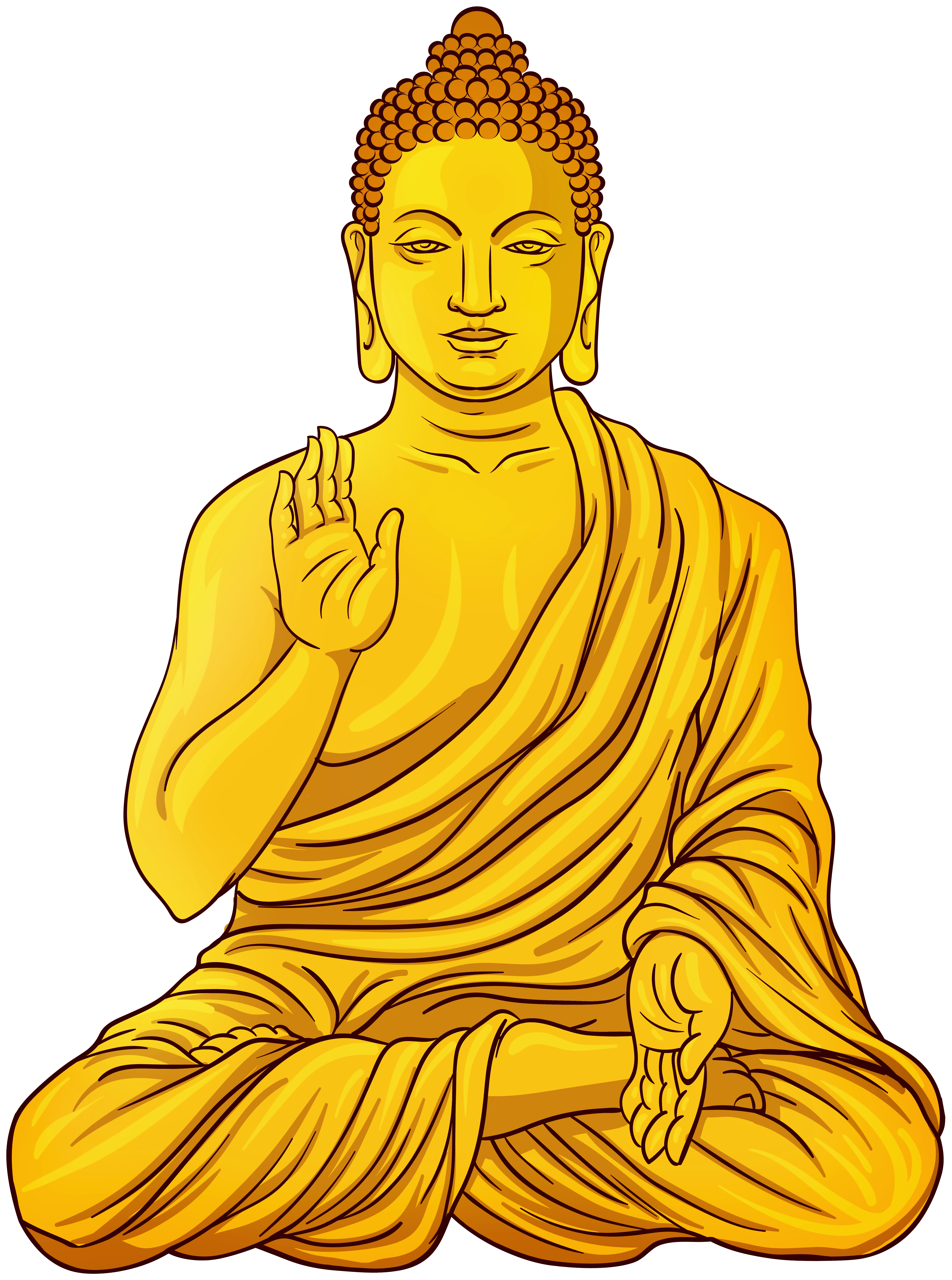 Gold statue png clip. Buddha clipart yellow picture transparent library