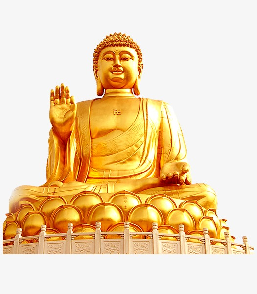 Buddha clipart golden buddha. Png image and