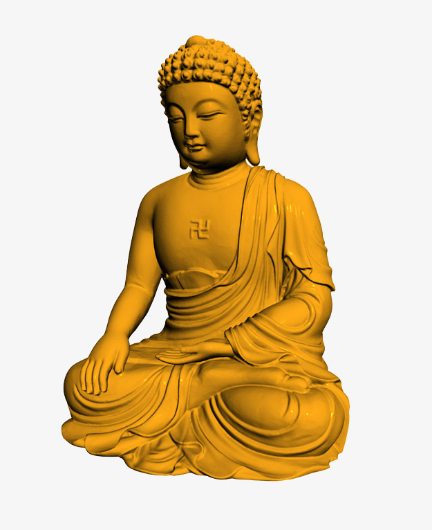 d modeling style. Buddha clipart sculpture vector library stock