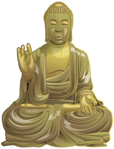 Statue png clip art. Buddha clipart sculpture png black and white download