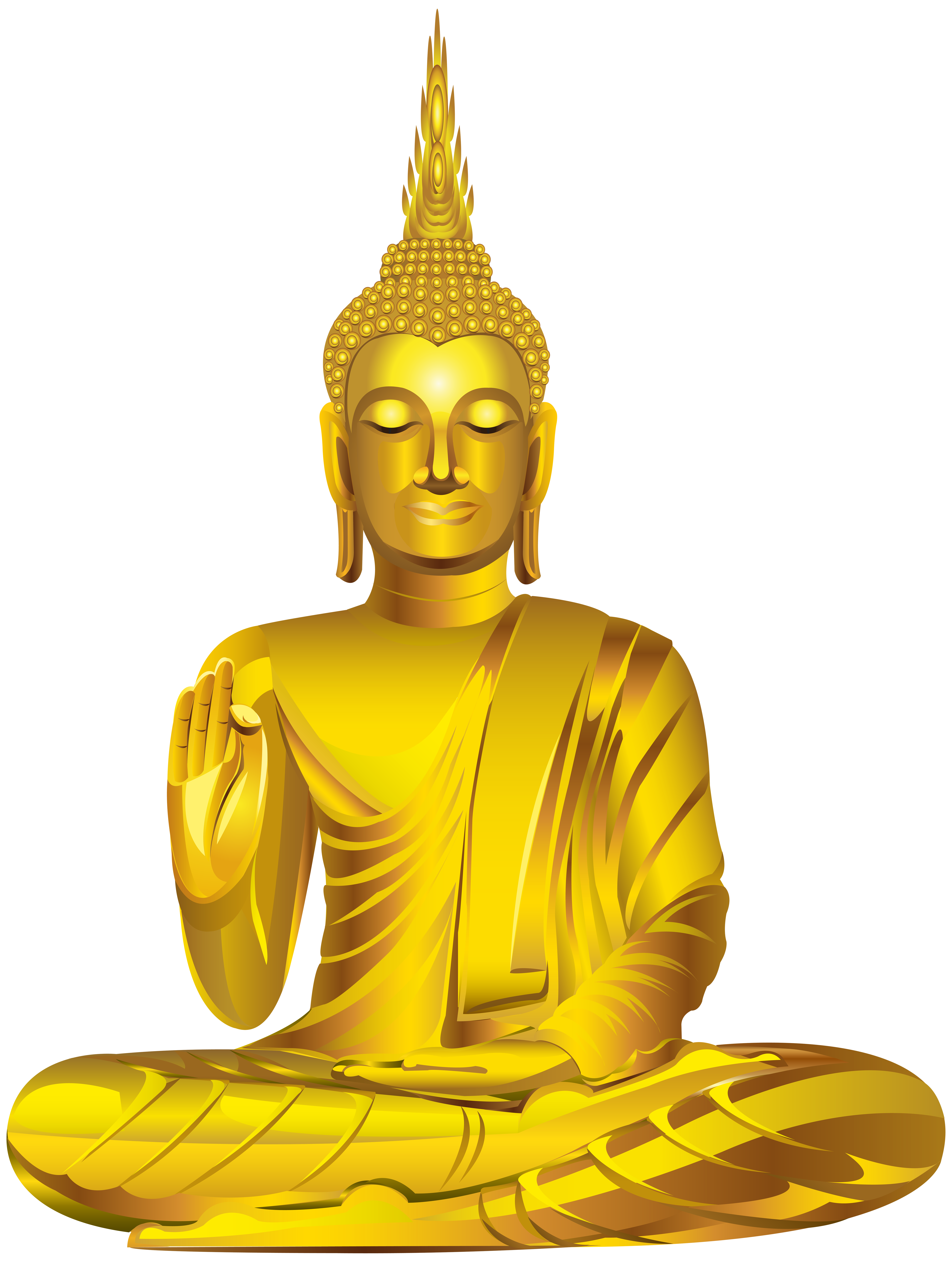 Gold statue png clip. Buddha clipart banner