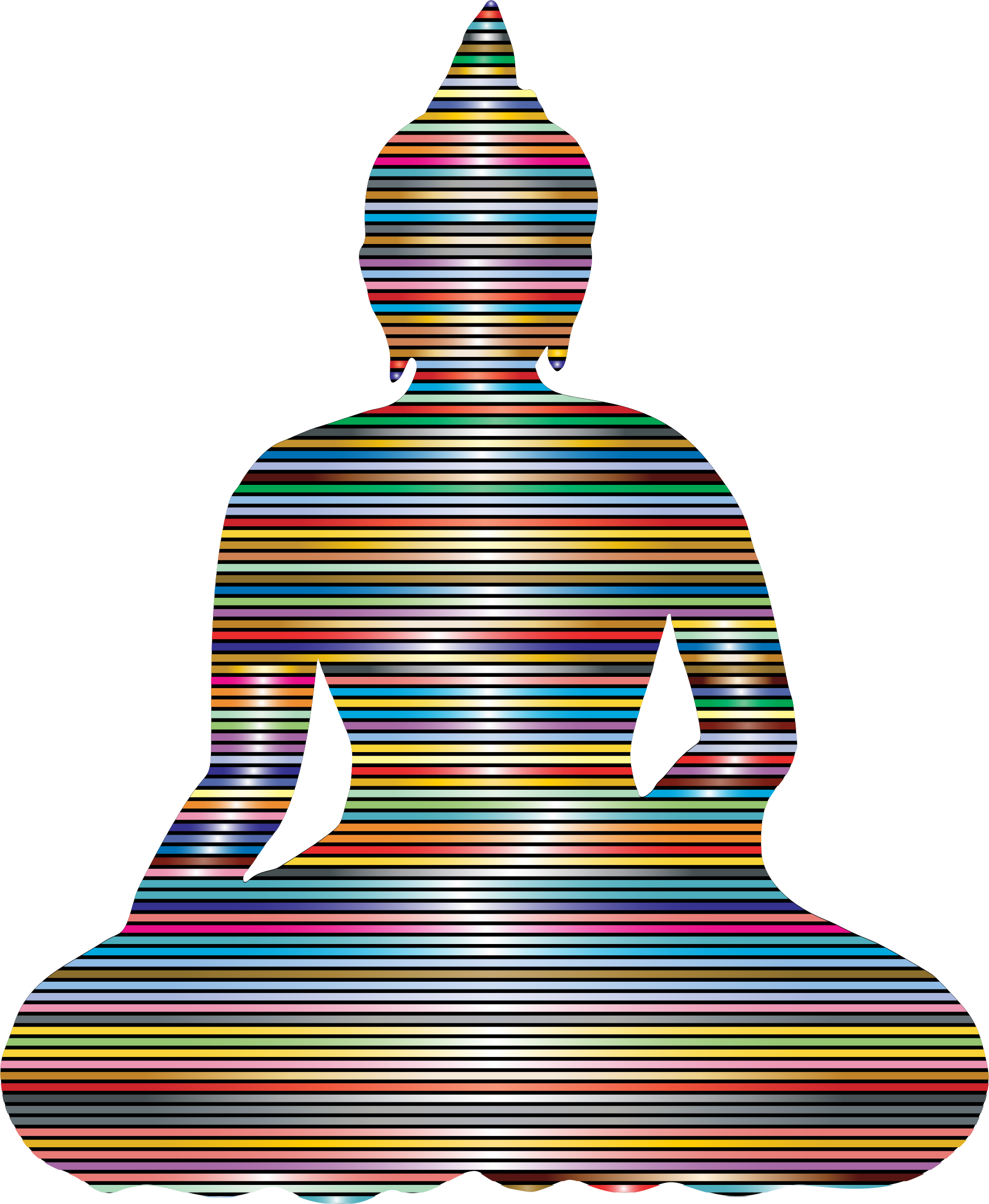 Sitting silhouette prismatic lines. Buddha clipart sillouette banner free download