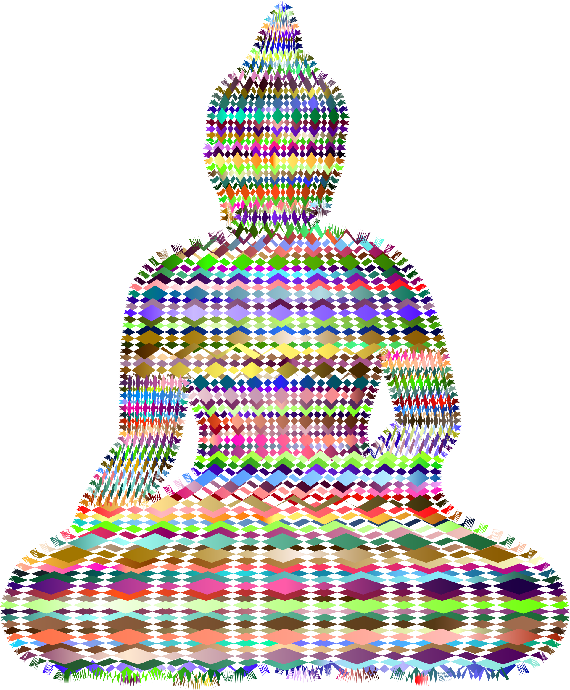 Sitting silhouette stylized lines. Buddha clipart sillouette image free