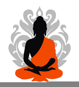 Free images at clker. Buddha clipart sillouette vector stock