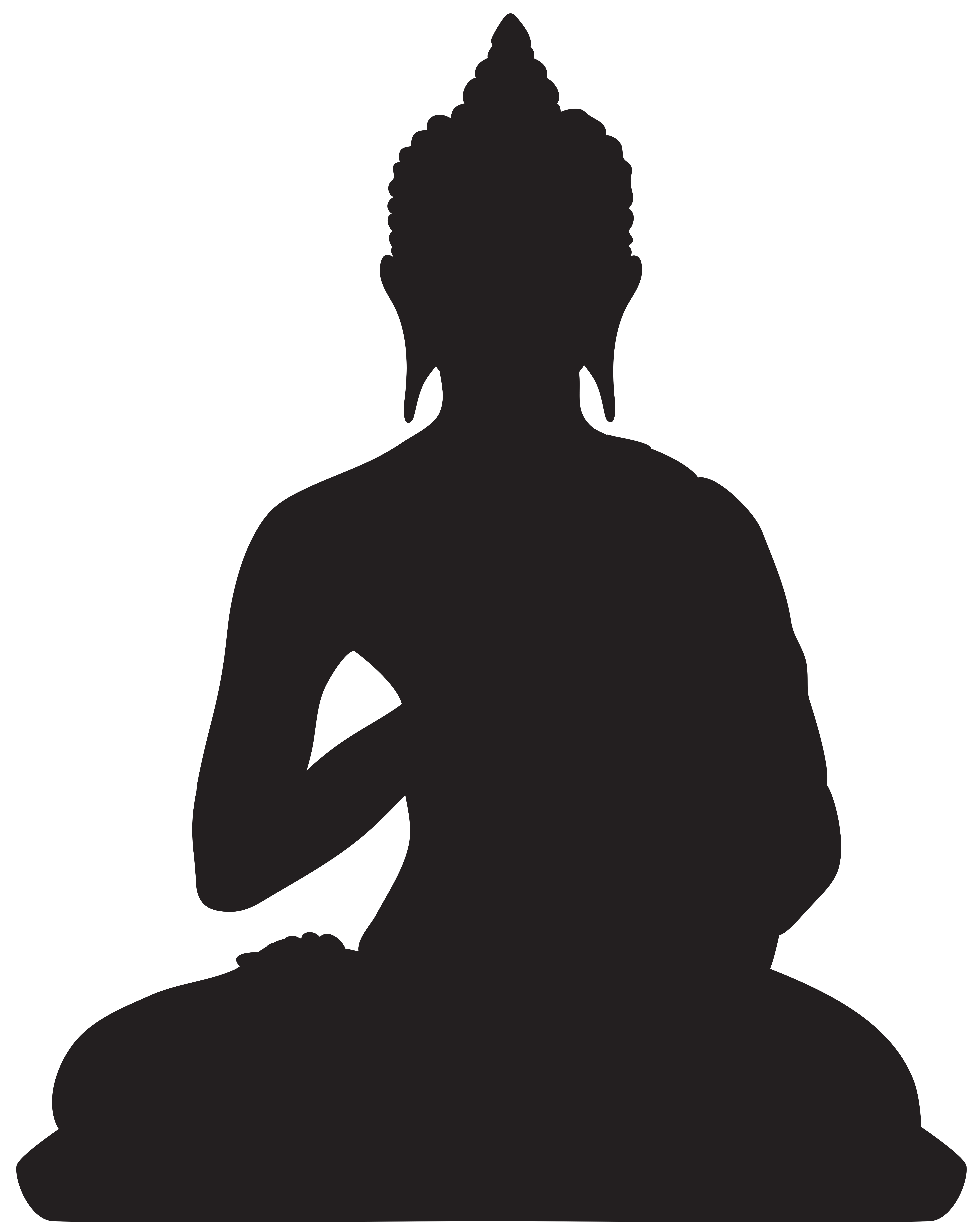 Buddha clipart sillouette. Silhouette png clip art