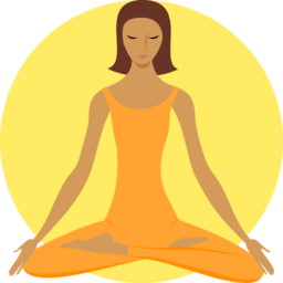 Buddha clipart yellow. Meditating buddhist i royalty