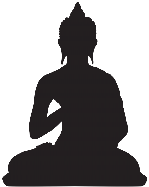 Buddha statue silhouette png. Free images toppng transparent