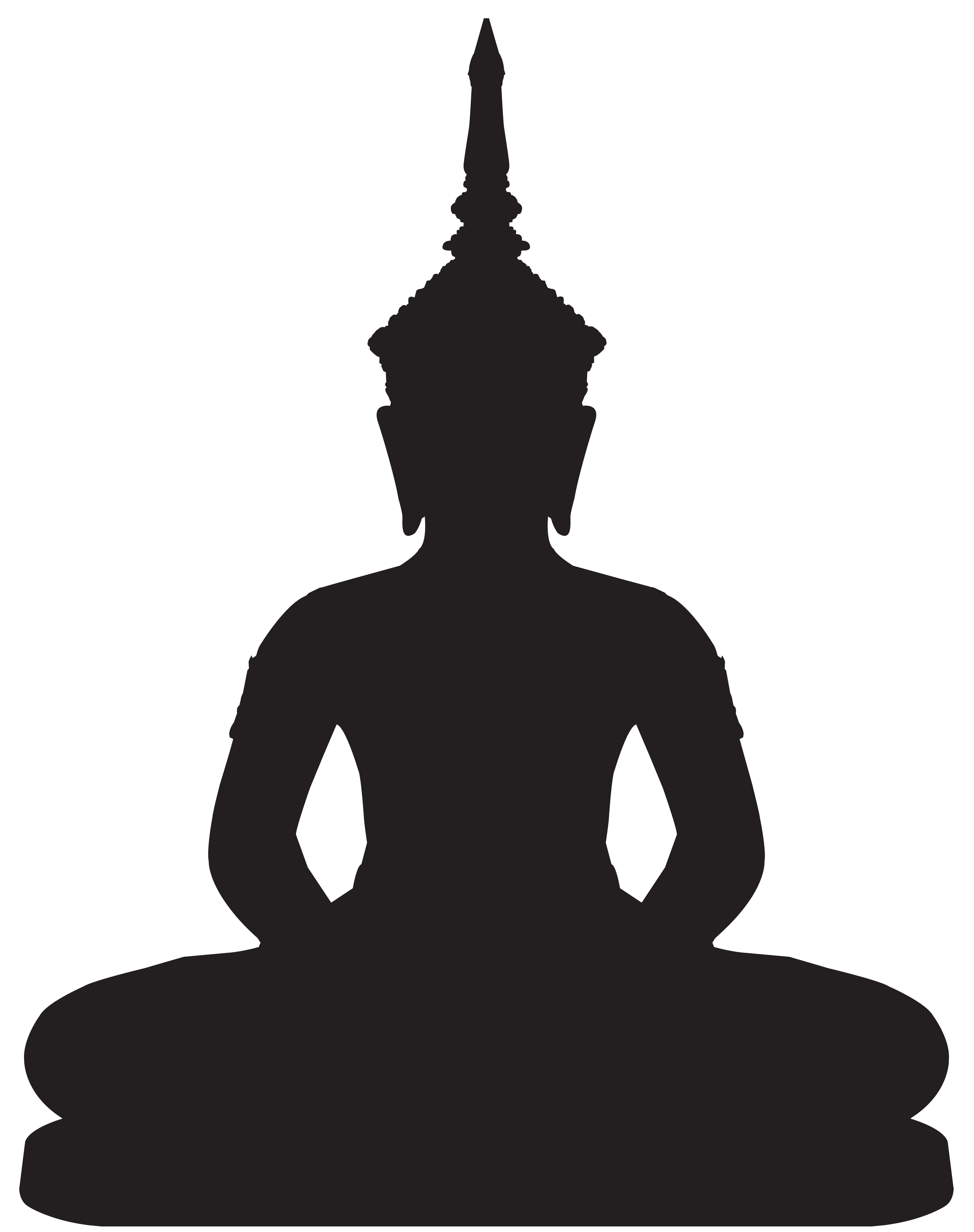 Statue silhouette png clip. Buddha clipart image freeuse download