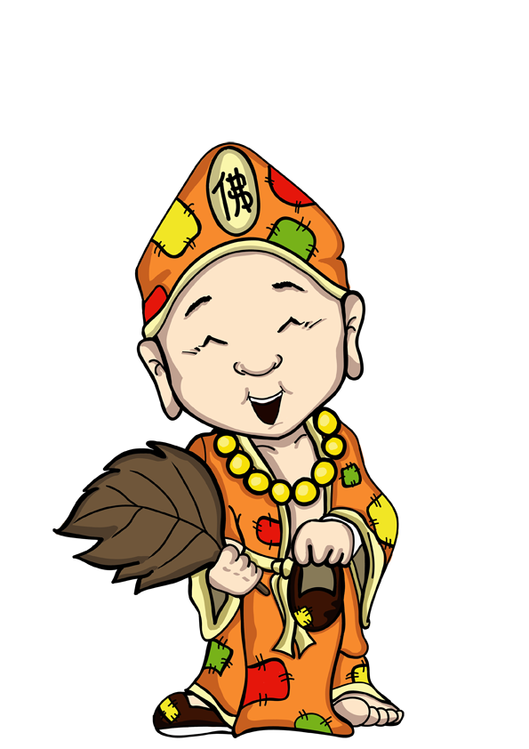 Monkas clipart buddhist priest. Ji gong cute