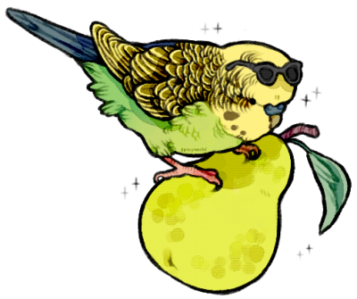 Budgie drawing gangster. Tumblr