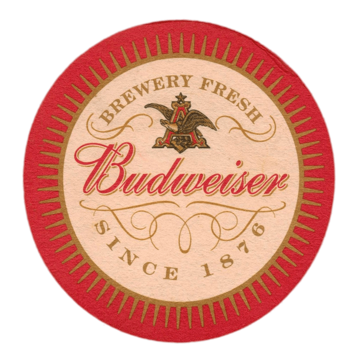 Budweiser holiday crate png. Beer coaster photos