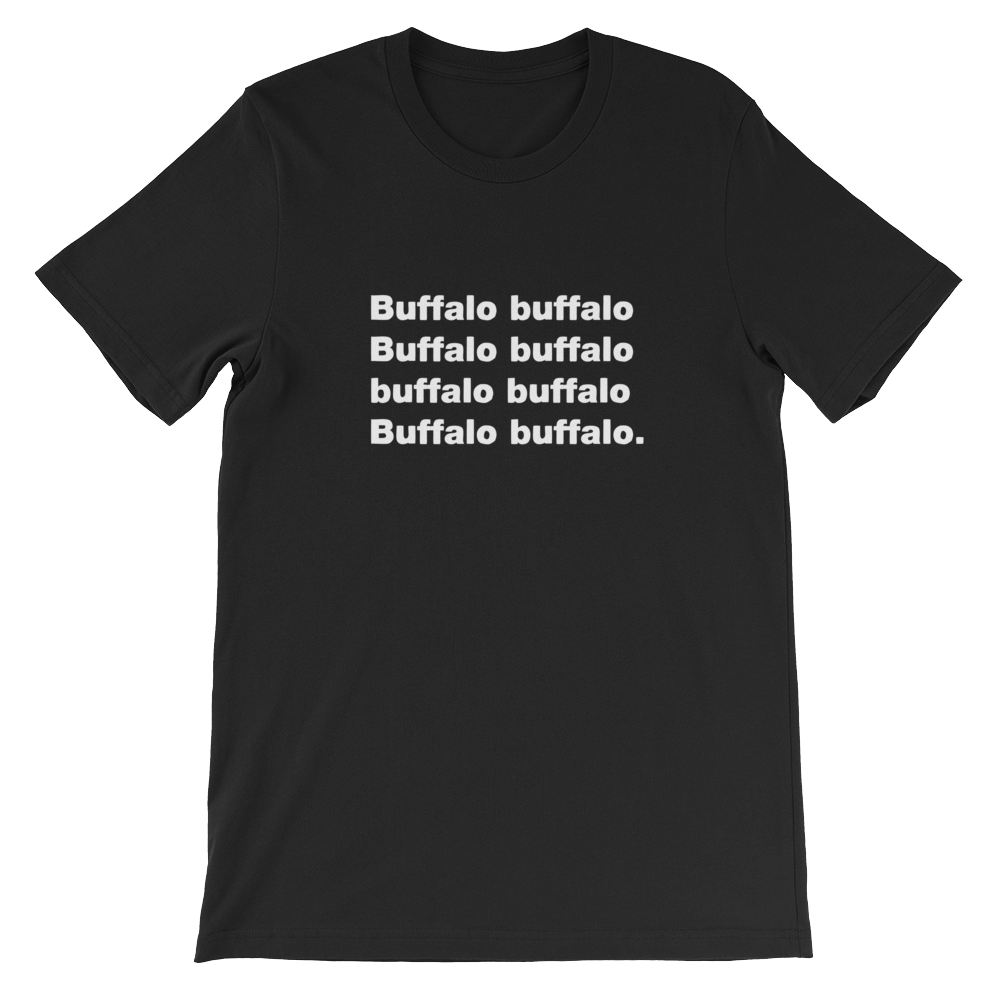 Buffalo transparent black and white. Ted ed shop