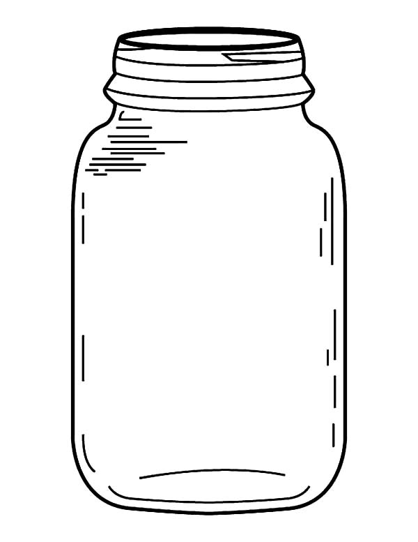 Bugs clipart jar. Bug coloring page genkilife