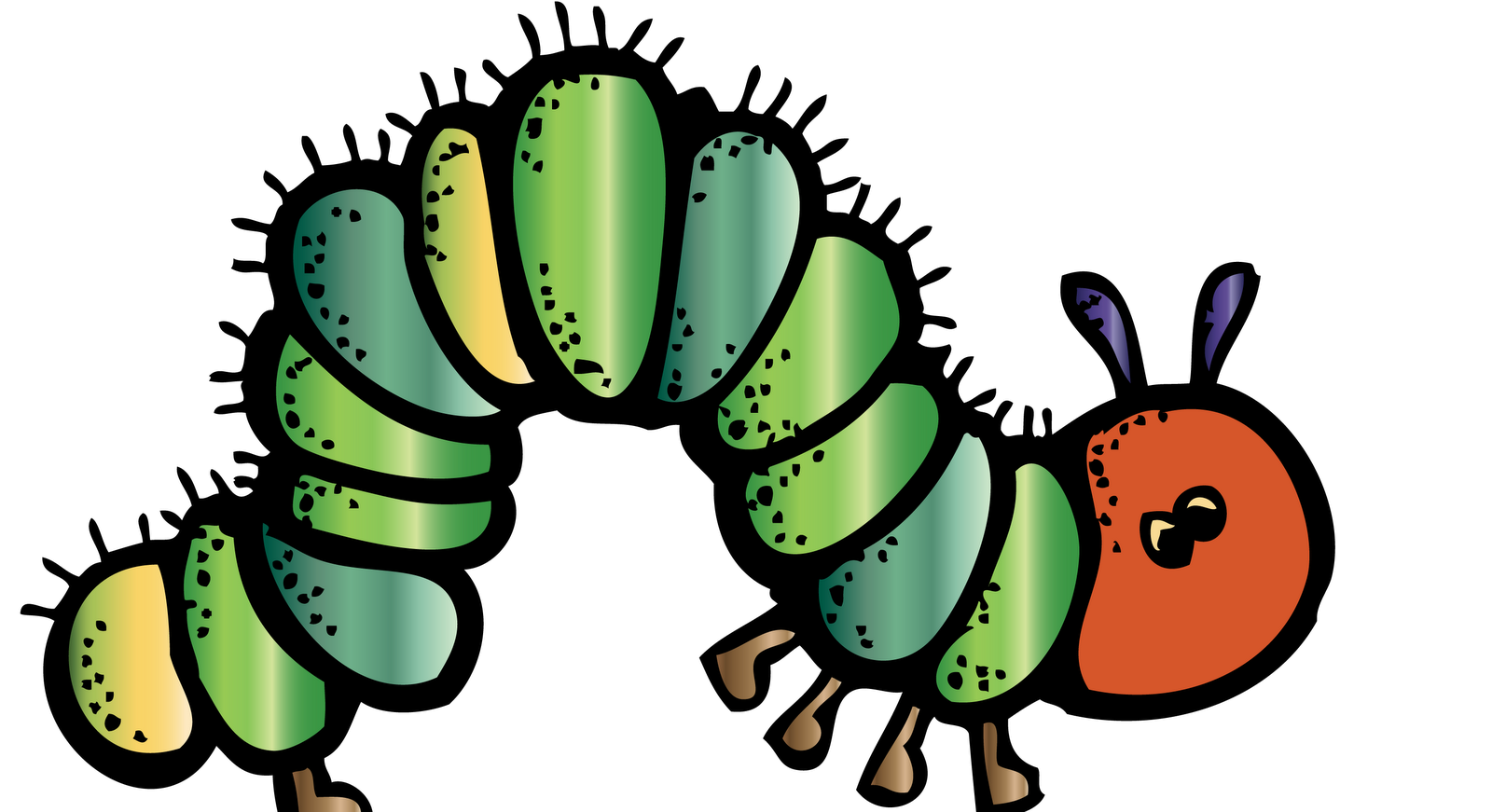 Very hungry caterpillar png black and white. Melonheadz colored cute clipart