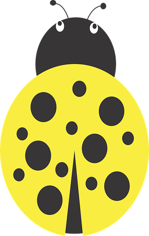 Bugs clipart yellow bug. Lady insect dots ai