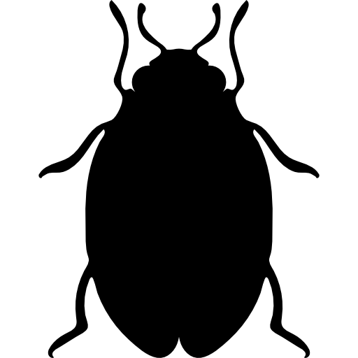 Vector parasite bed bug. Insect shape icons free
