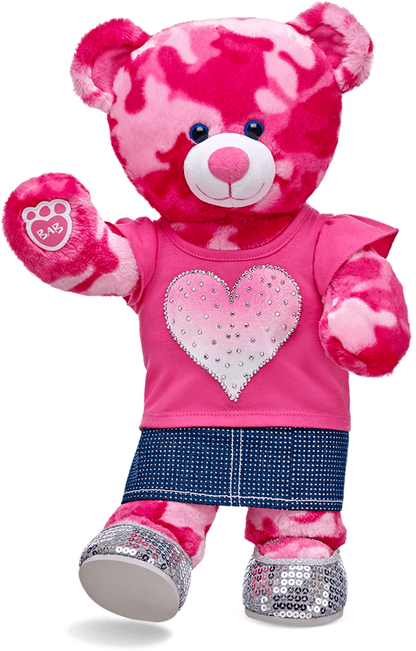 Build a bear png. Babw pink camo dressed