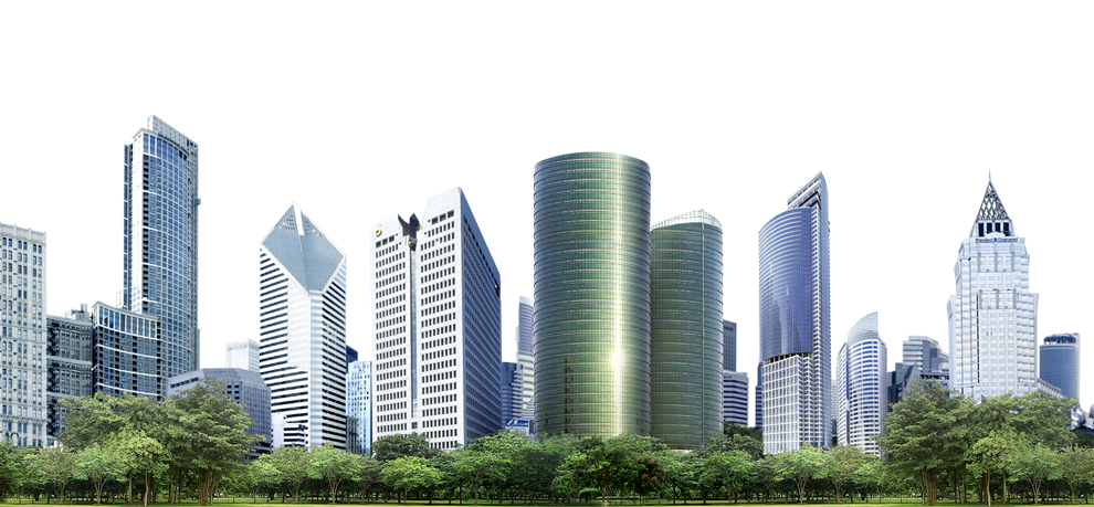 Image with transparent background. Building png graphic freeuse stock