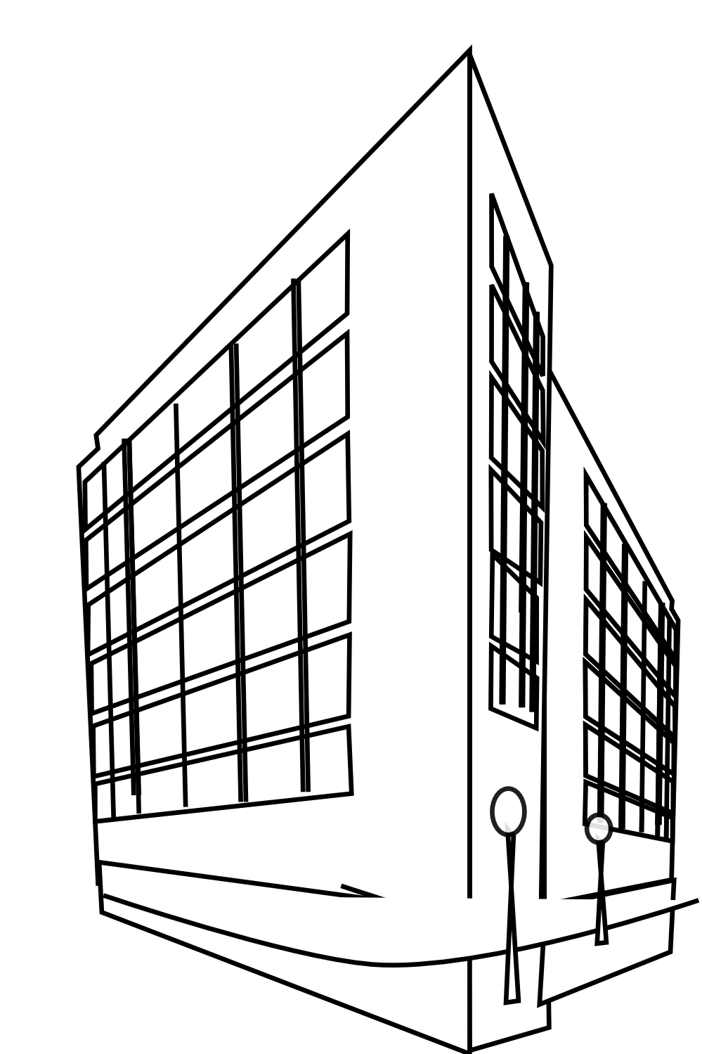 Building clipart. Black and panda free