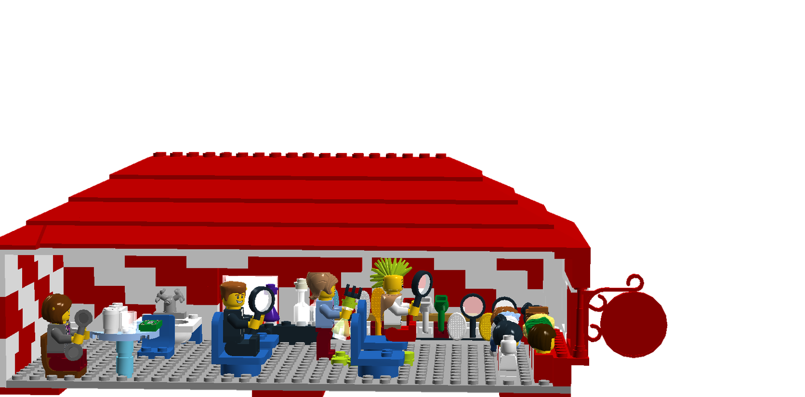 Building clipart barber shop. Lego ideas product the