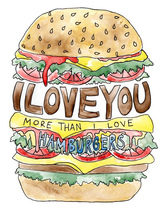 Building clipart burger. I love you more