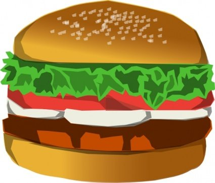 Building clipart burger. Free and vector graphics