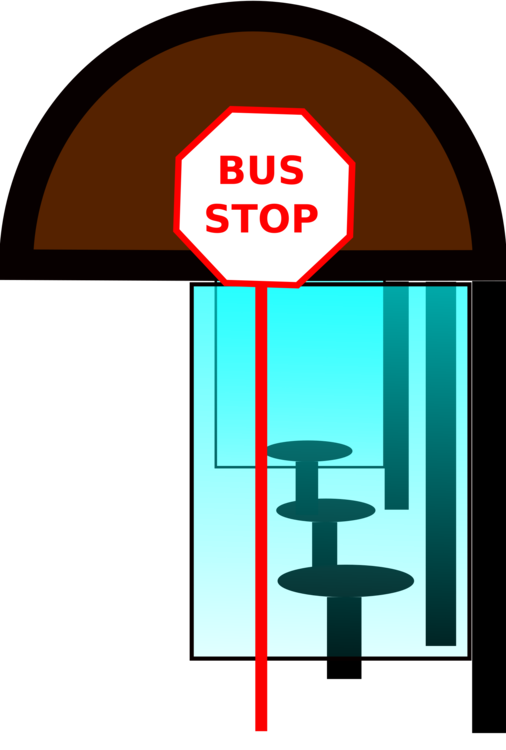 Building clipart bus. Stop school traffic laws
