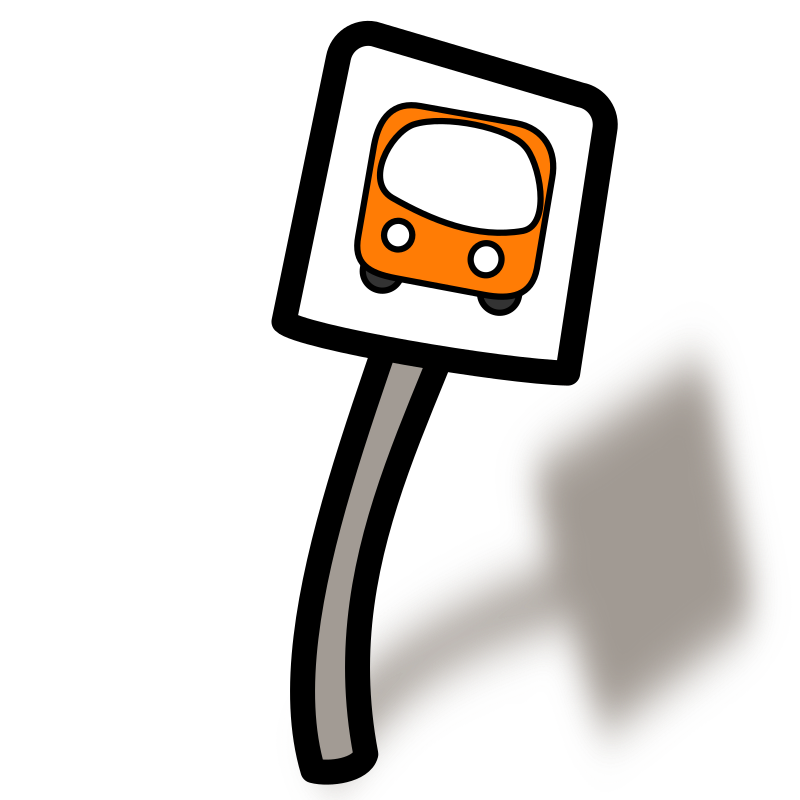 Building clipart bus. Funny stop medium image