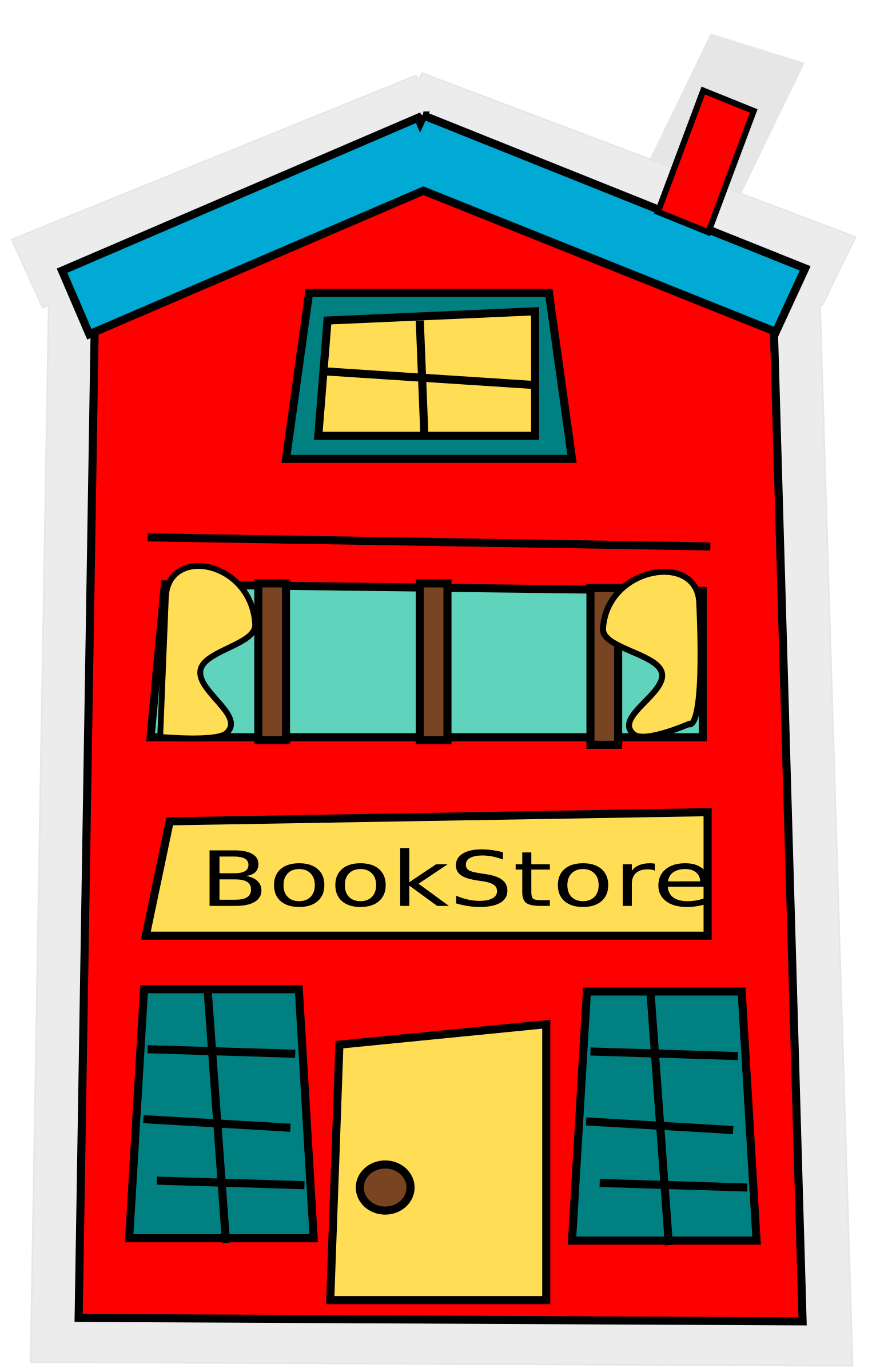 Building clipart cartoon. Bookstore big image png