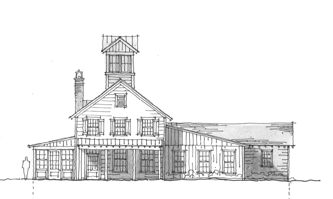 Old drawing architectural. Historical concepts communities board
