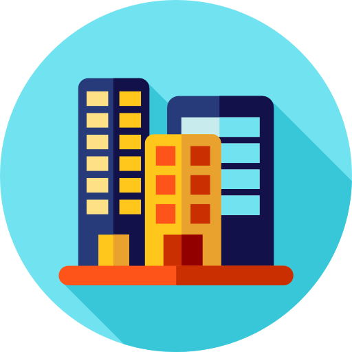Building icons png. Office block free buildings