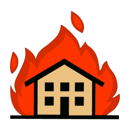 Building on fire png. House transparent images pluspng