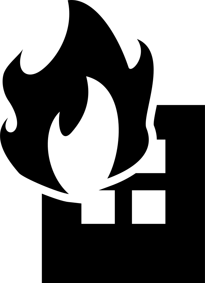 Building on fire png. Svg icon free download