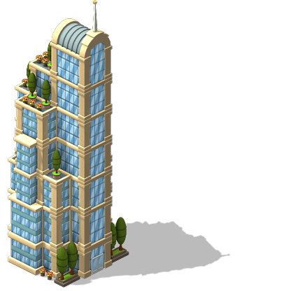 Pool transparent skyscraper