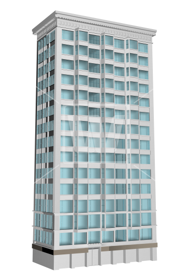 Transparent building. Multi level d png