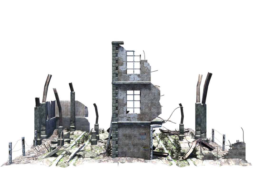 Building rubble png. Ruined stock pack by