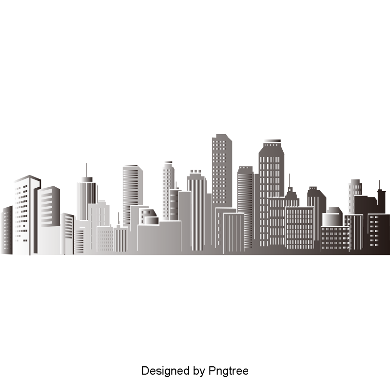 Vector buildings vintage. Building silhouette city png