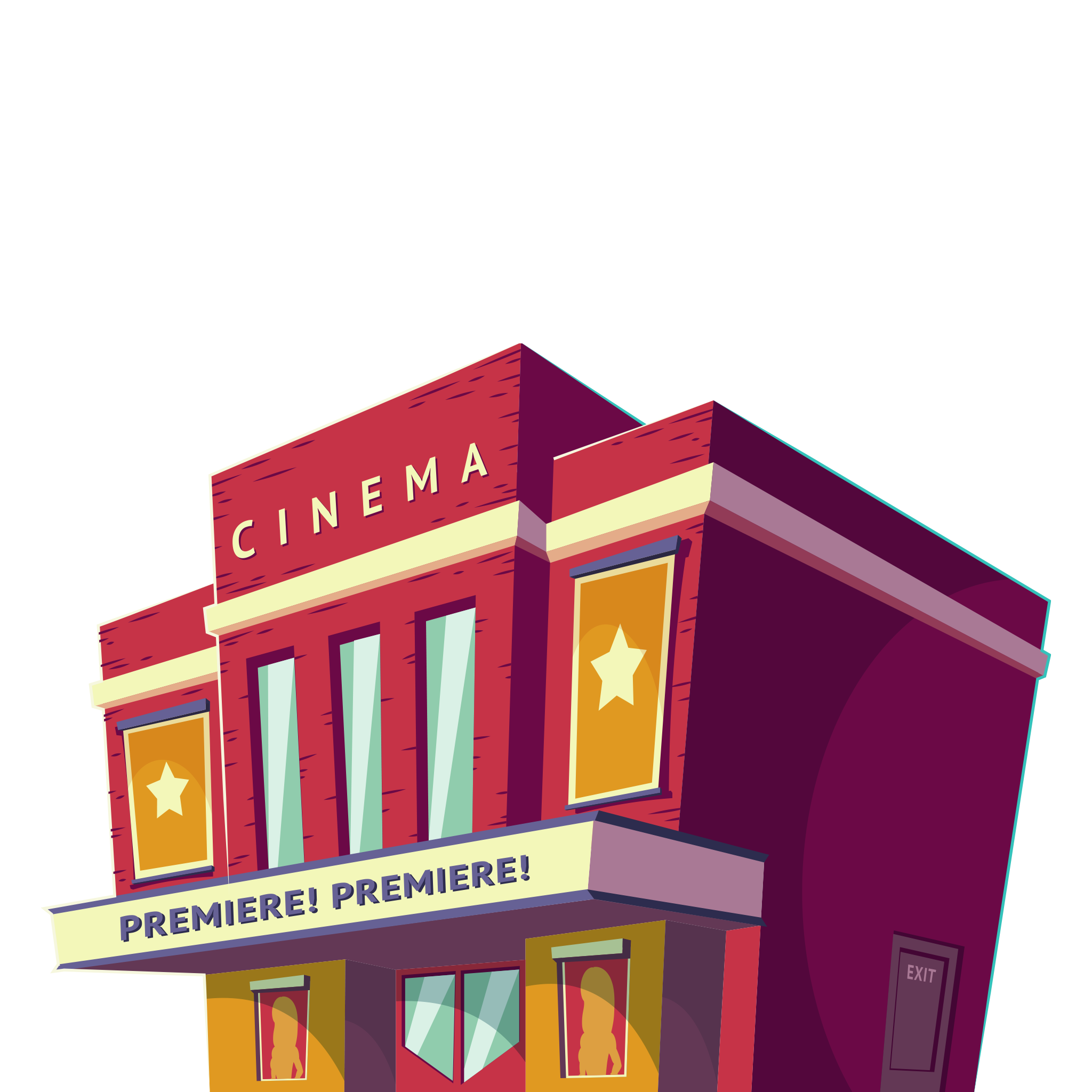 Buildings clipart cinema. Hall image png free