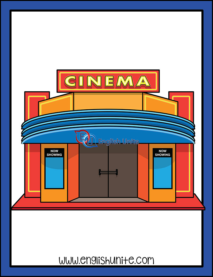 Buildings clipart cinema. English unite clip art